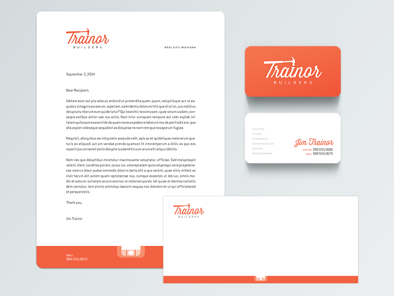 Construction Company Stationery Letterhead examples