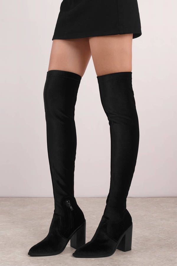 8f425bd8f78 Looking for the Sol Sana Natalie Black Knee High Boots