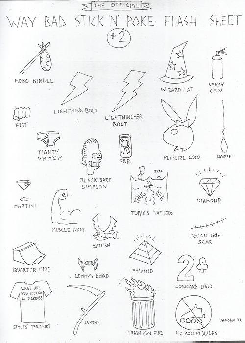 Stick And Poke Flash : stick, flash, TUESDAY,, APRIL, Another, Stick, Flash, Sheet., Kids!, (Check, Poke,, Tattoo,, Tupac, Tattoo