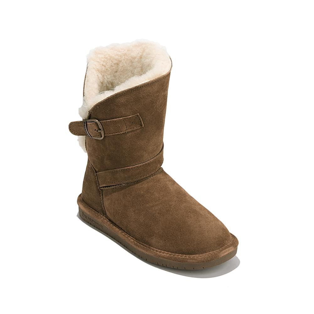 BEARPAW® Annie Suede Sheepskin Boot with NeverWet™ - Tan