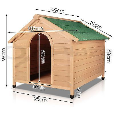 Details about iPet Dog Kennel Kennels Outdoor Wooden Pet House Cabin Puppy Large L Outside