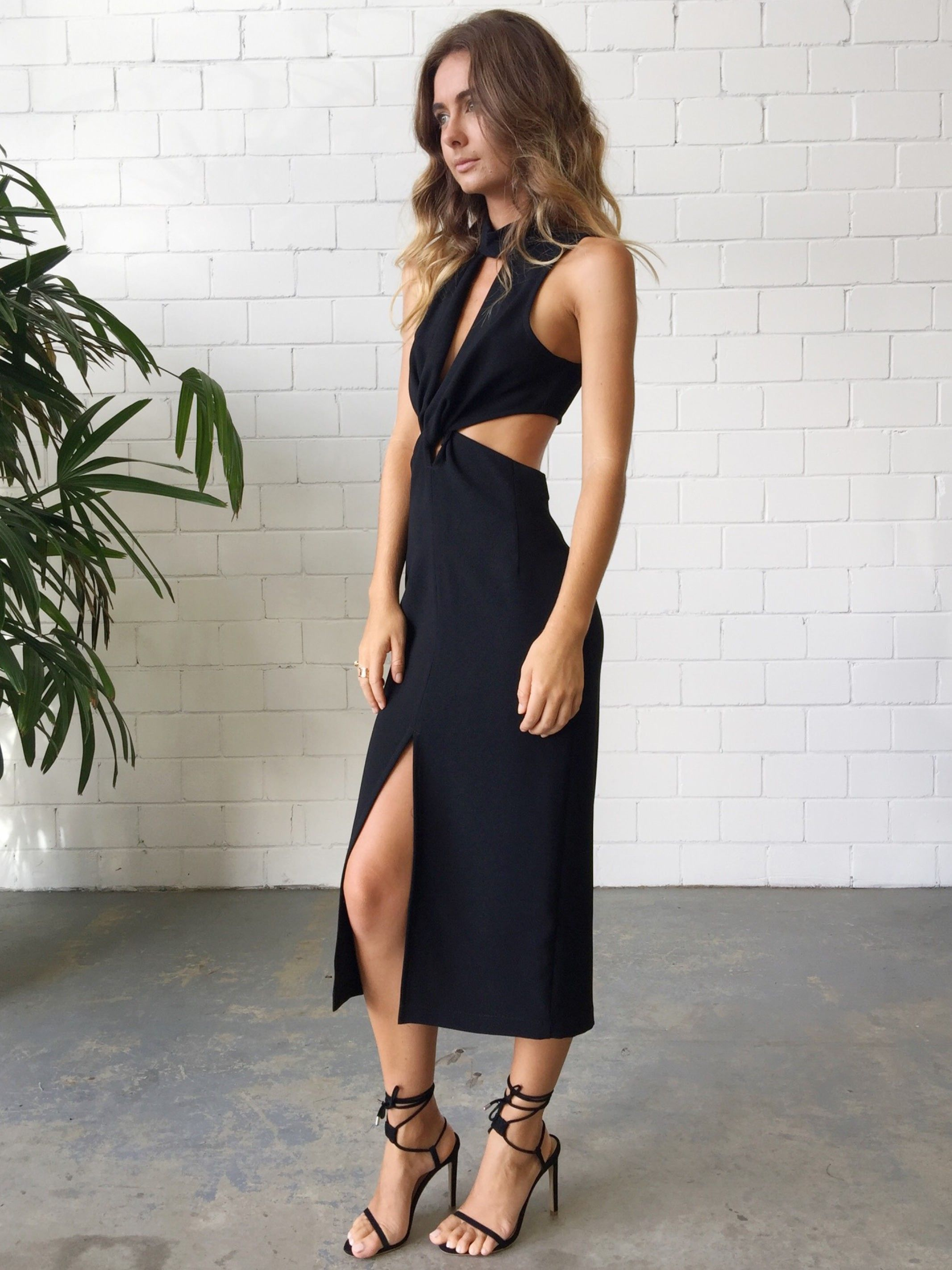 Bec   Bridge Phoenix Plunge Dress- Black  47be0cff3