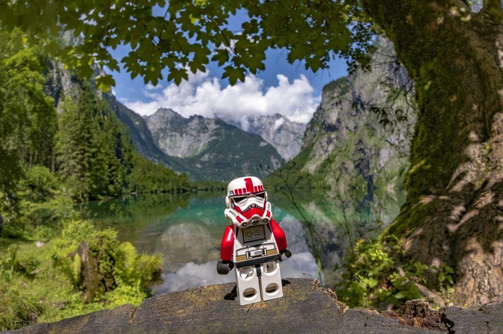 Schocktrooper am Obersee at Königssee Natural landmarks