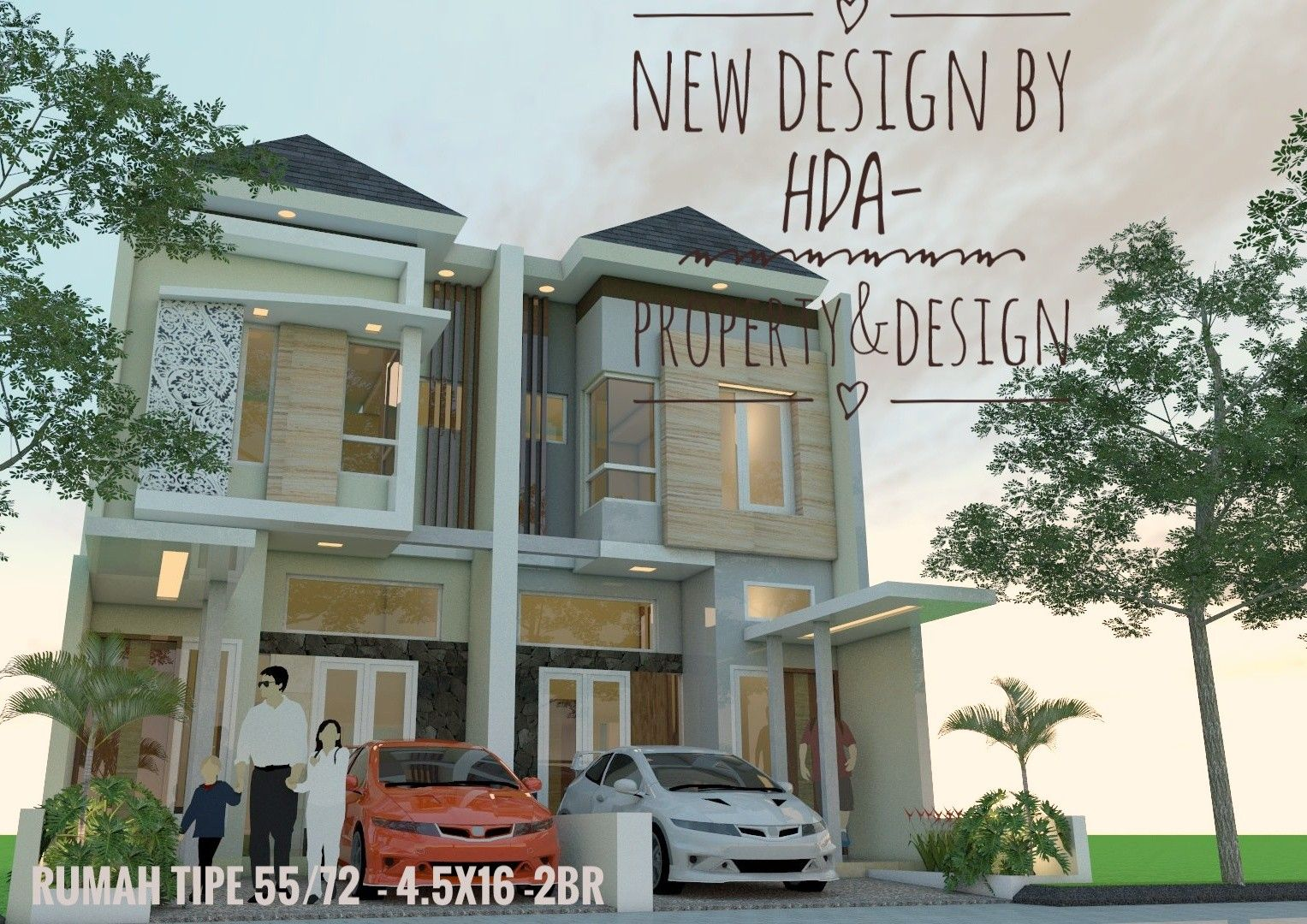 My New Design For House At Small Land Only 4 5m Wide This Land Area Is 4 5x16 I Design 2 Floor With Build Area Is 50m2
