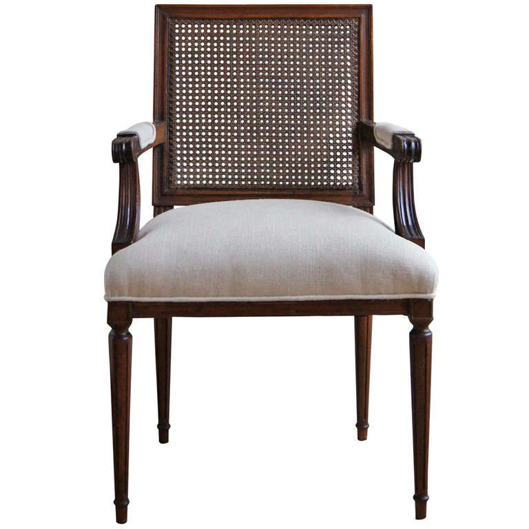 Set of Eight Directoire Style Dining Chairs