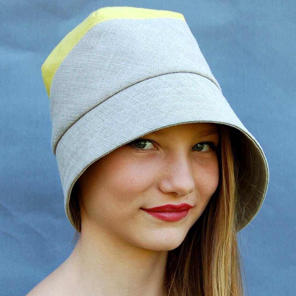 Yellow and plain linen hat ZUTdaisy - product images of f87b38645a8c