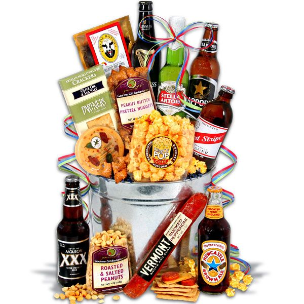 Around The World Beer Bucket™ - 6 Beers - a gift basket for him i could assemble myself