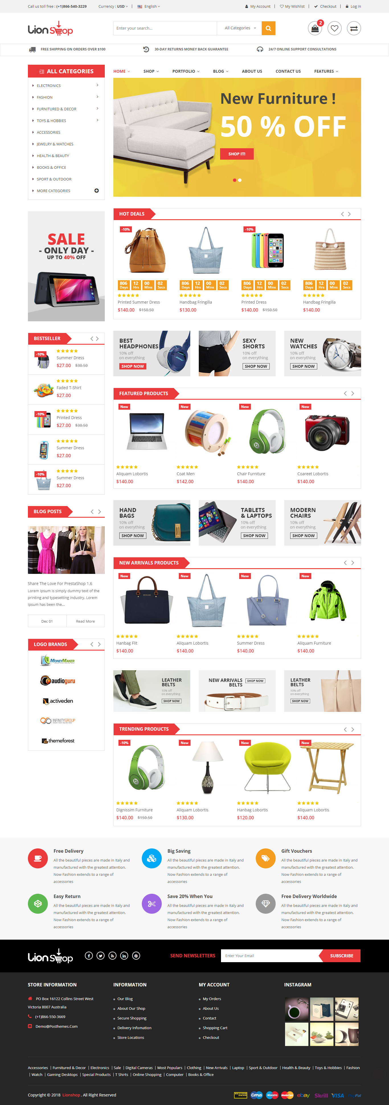 a65b2ee8c Lion – eCommerce Bootstrap 4 Template is a good looking HTML5 eCommerce  website template. The uniquely designed template is responsive to every  digital ...