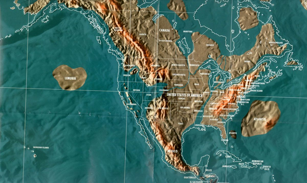USA after the ice melts. Earthquake today, New world map