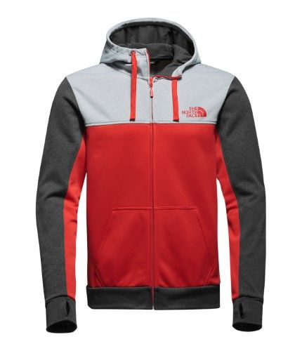 3b05251be46a Men s The North Face Surgent Block Full Zip Hoodie High Risk Red 2X-large