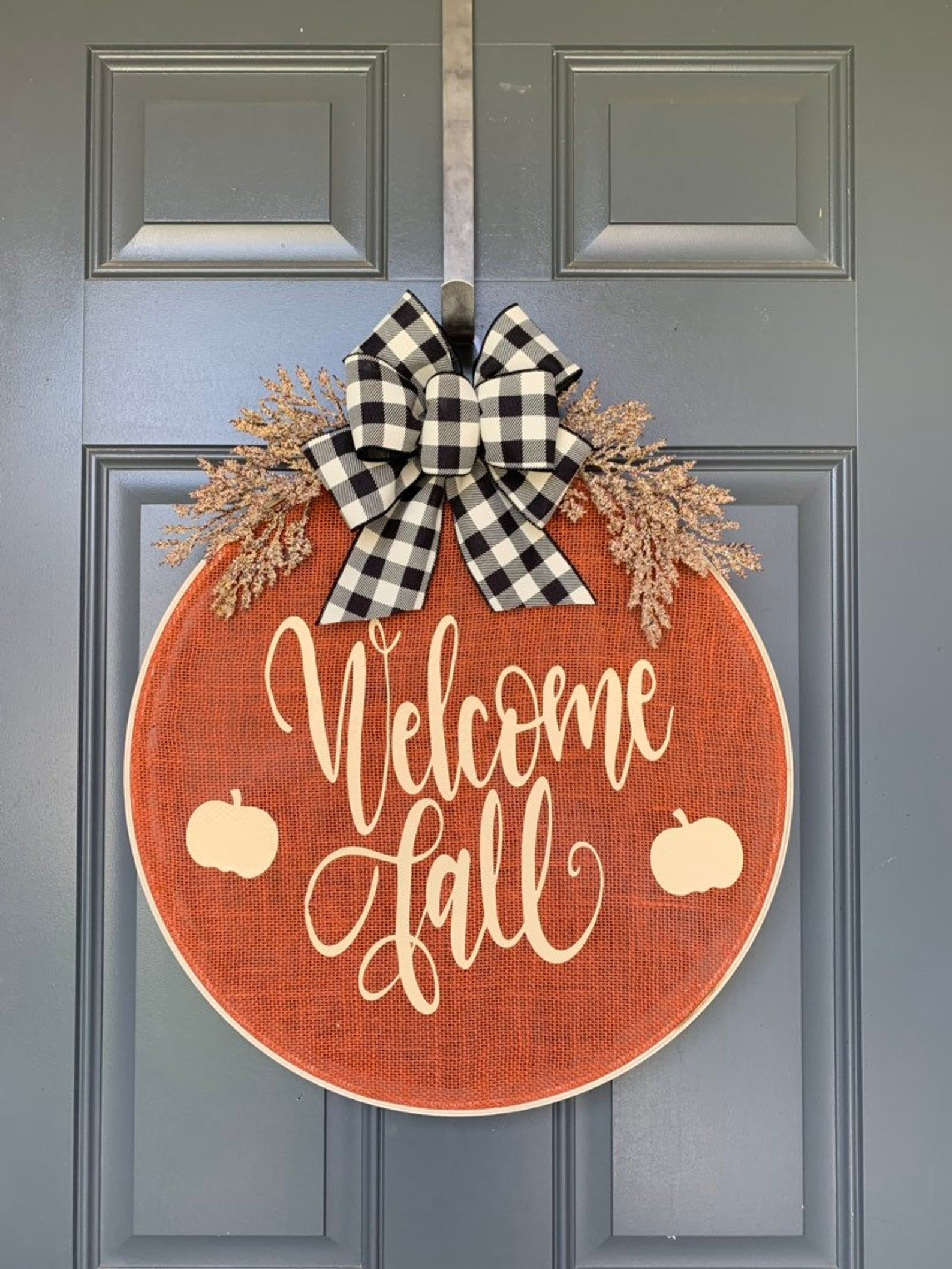 Burlap Wreath Hoop Wreath Fall Wreaths Fall Wreath Fall Wreaths for front door Wreaths for Front Door Wreath for Front Door