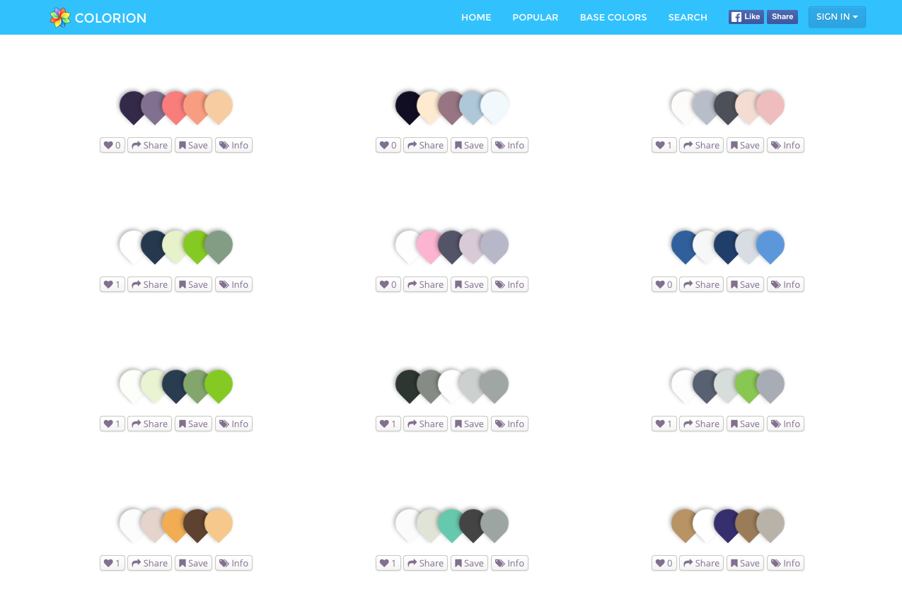 Curated color palettes with search and tags support type graphic curated color palettes with search and tags support ccuart Choice Image