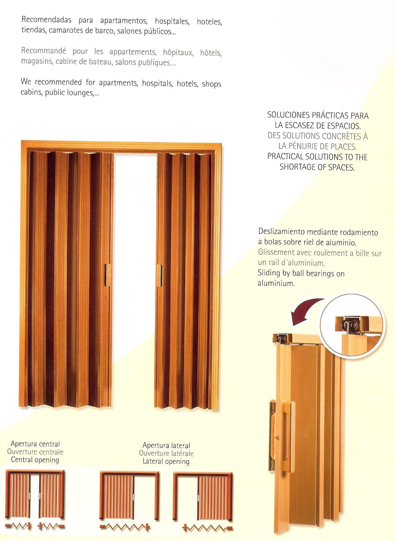 Puertas de ba o tipo acordeon porta plegable decor - Puerta de acordeon ...