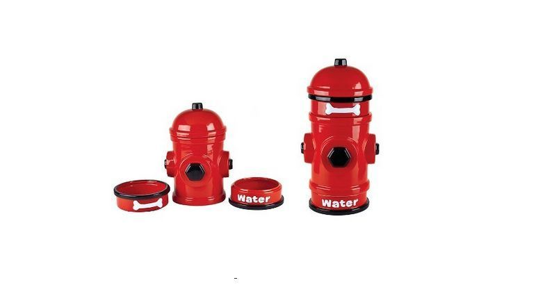 Fire Hydrant Pet Food Container Treats Canister Dog Dishes