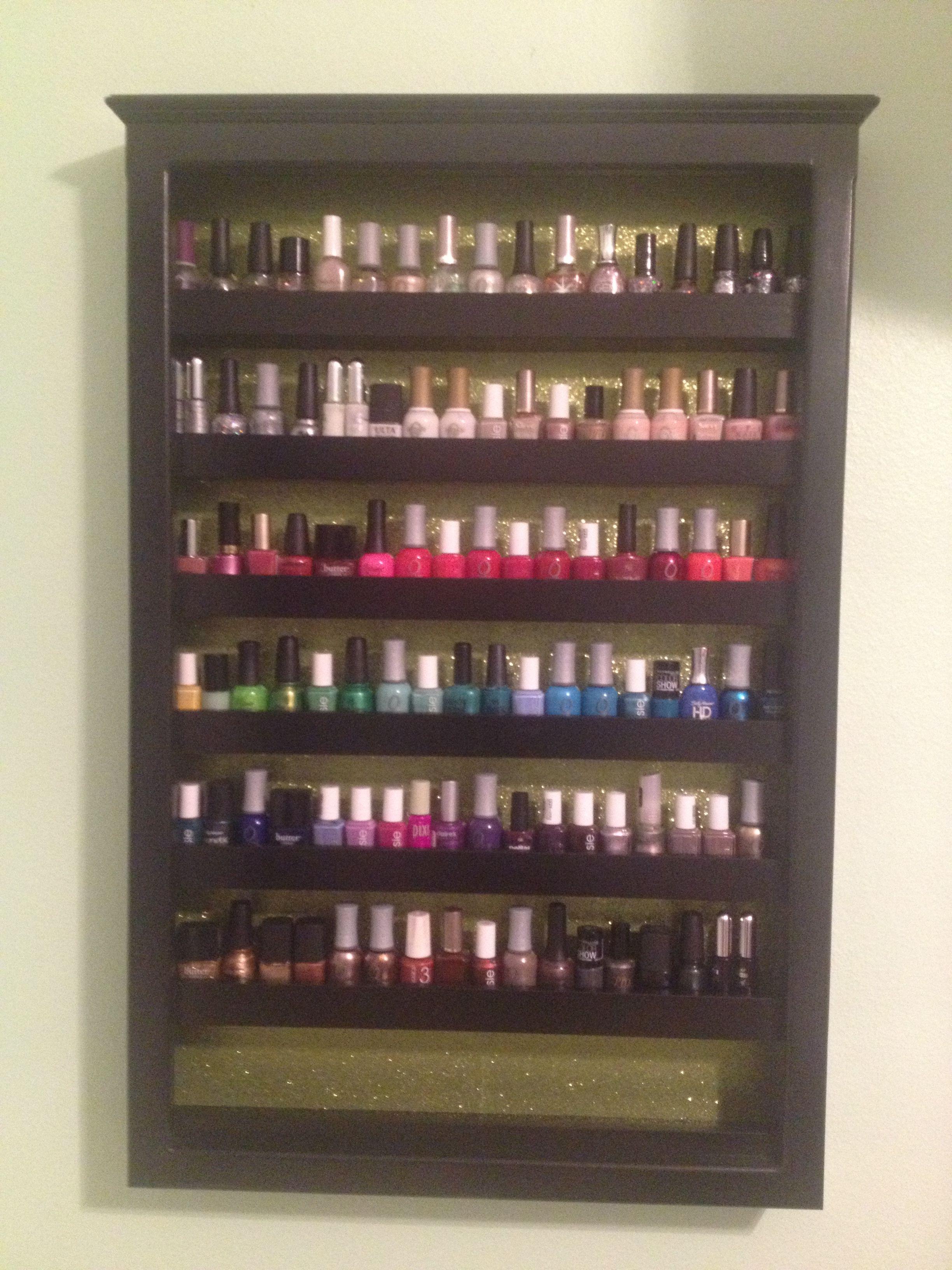 Custom nail polish cabinet