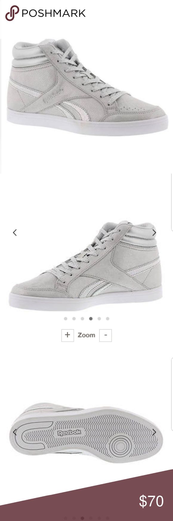 91370b556ea Reebok Royal Aspire 2 Silver Color  Silver Condition  NWT- In Box Style  Women s  High Top Sneakers