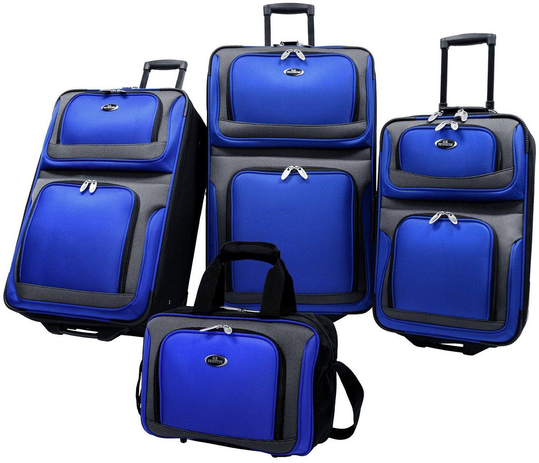 Amazon.com: US Traveler New Yorker 4 Piece Luggage Set Expandable ...