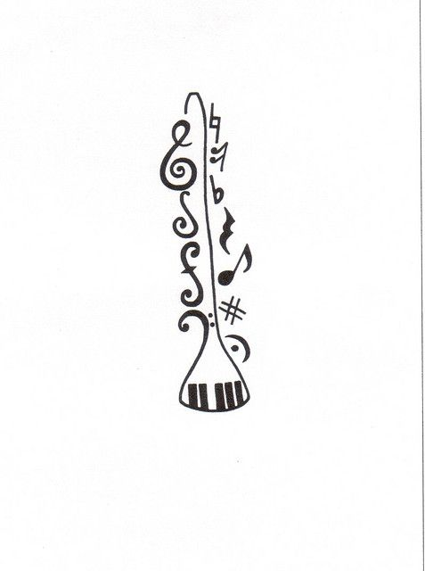 Music Tattoo Nerd Is The Word Music Tattoos Clarinet