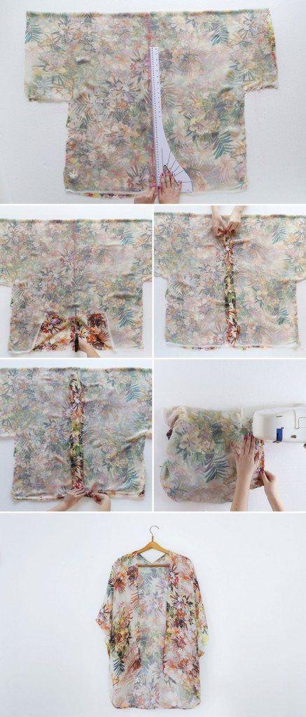 Veste kimono femme: idée DIY très facile à réaliser! | patrones ropa ...