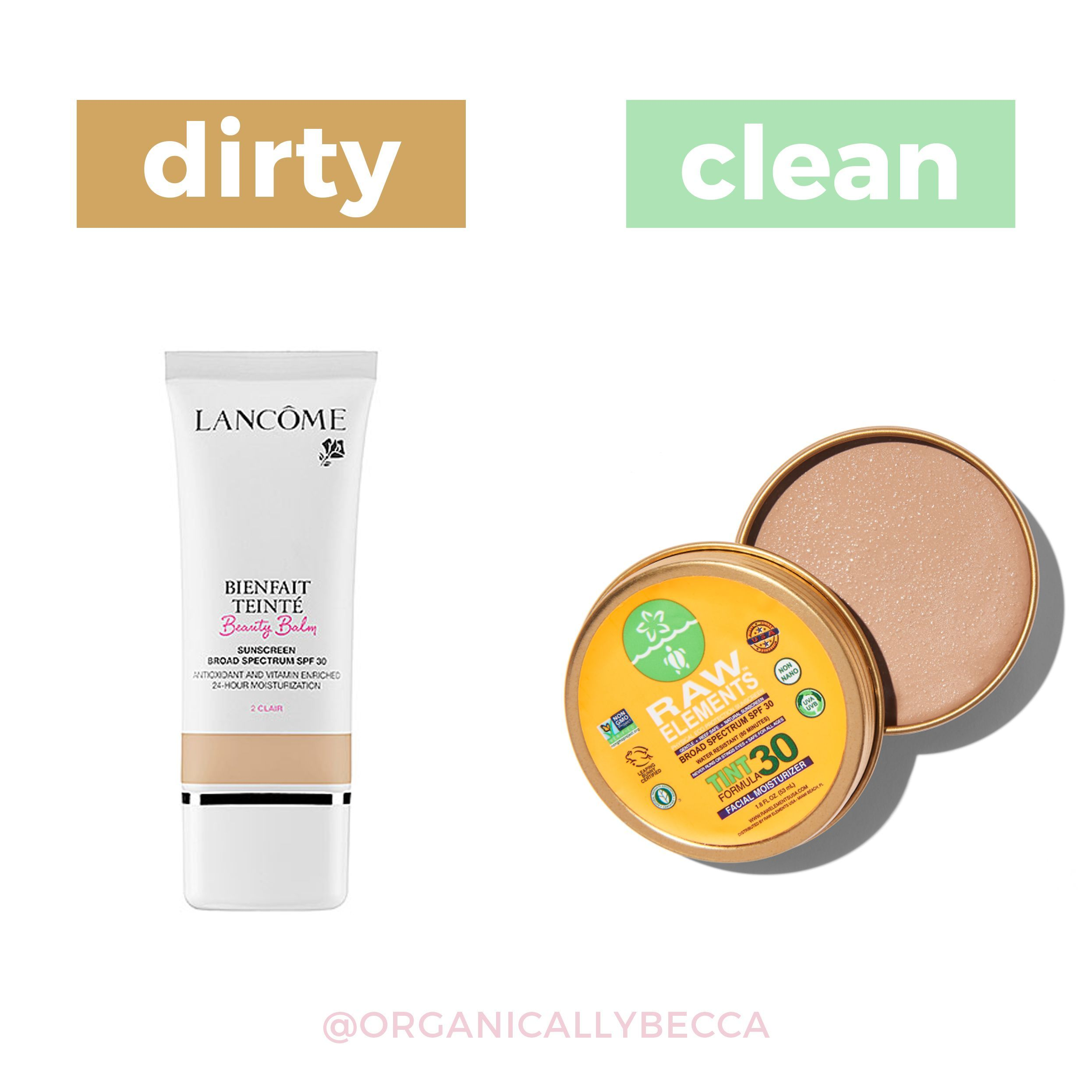 Raw Elements Organic Natural SPF Sunscreen Tinted
