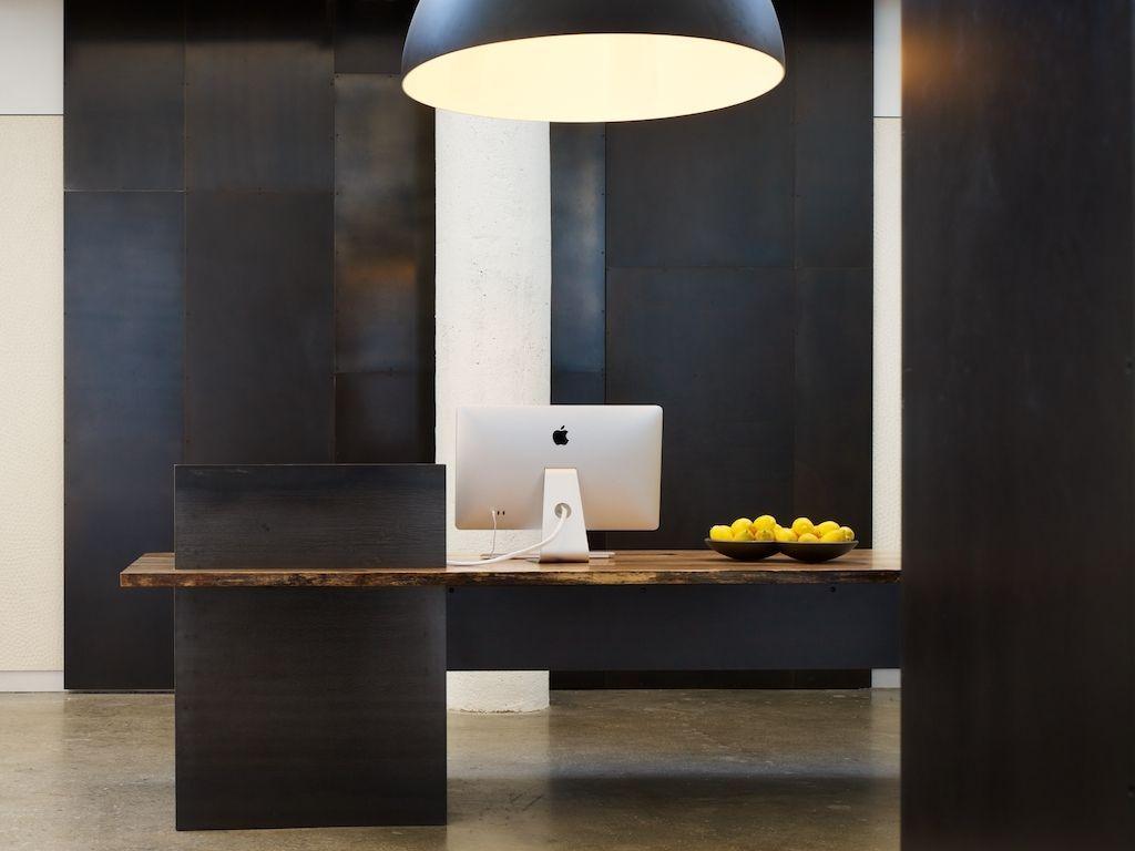 Custom Desk Designs custom made metal – modern / industrial plate steel reception desk