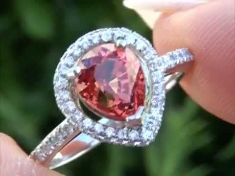 Worlds Rarest Top Gem Padparadscha Sapphire & VS Diamond Ring Set In Solid Platinum Must Be Sold