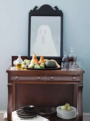 Keep up ghostly appearances with this witty reflection. Draw a figure on the back of a sheet of fros... - John Kernick