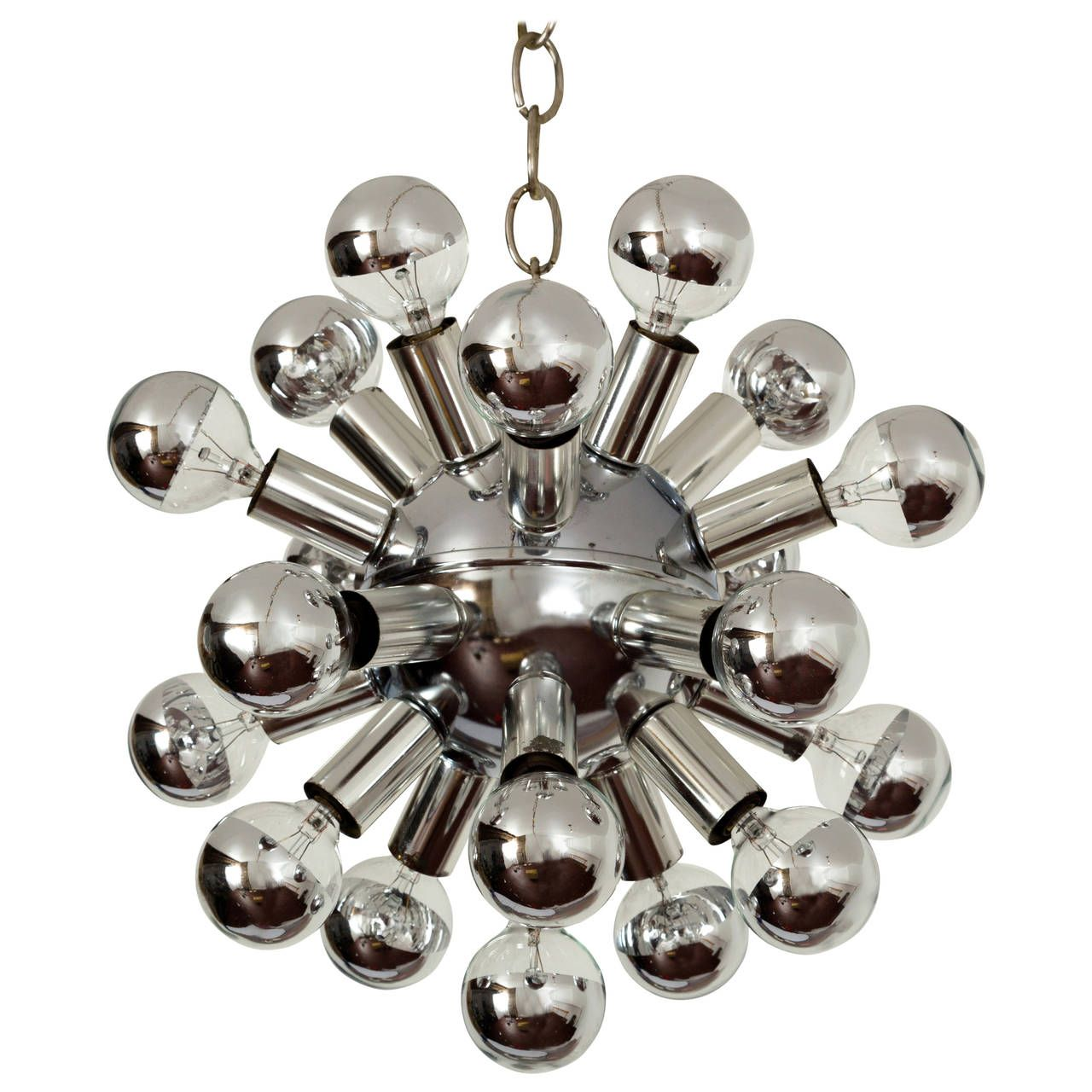 Small sputnik chandelier light fixture in polished chrome 1960s small sputnik chandelier light fixture in polished chrome 1960s arubaitofo Images