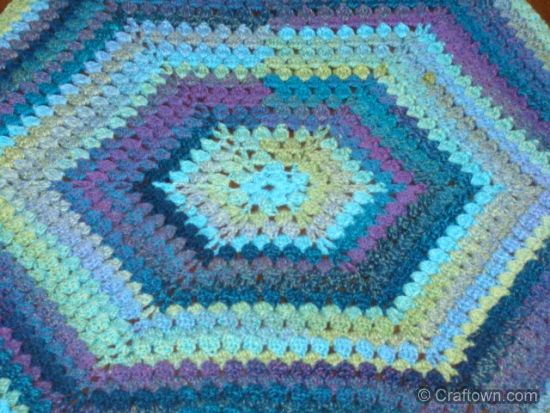 Free Crochet Pattern Hexagon Afghan So Fun And Easy Crochet
