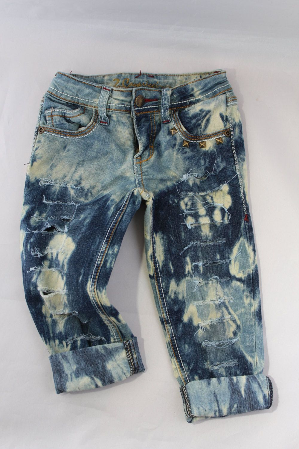 198e5289f Distressed Jeans or Shorts- Ripped Jeans- Jeans with Chains- Baby ...