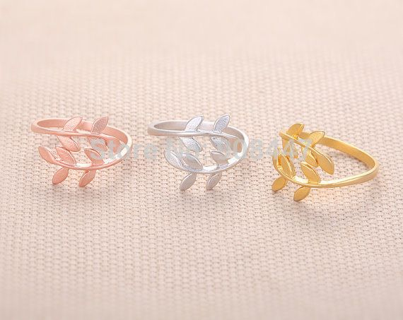 2016 새로운 패션 월계수 잎 반지, 액세서리 가지 잎 반지 간단한 손가락 반지 여성 여자 R068