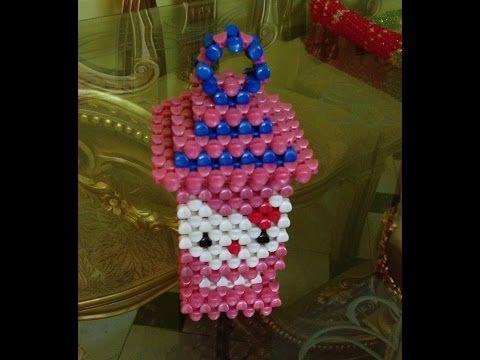 طريقة عمل فانوس كبير من الخرز مريم عثمان How To Make Beaded Lantern Youtube Bead Work Crochet Jewelry Beaded Accessories