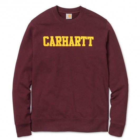 CARHARTT College Sweat ras du cou 69,00 € #skate #skateboard #skateboarding #streetshop #skateshop @playskateshop