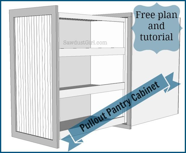 how to make pull-out pantry