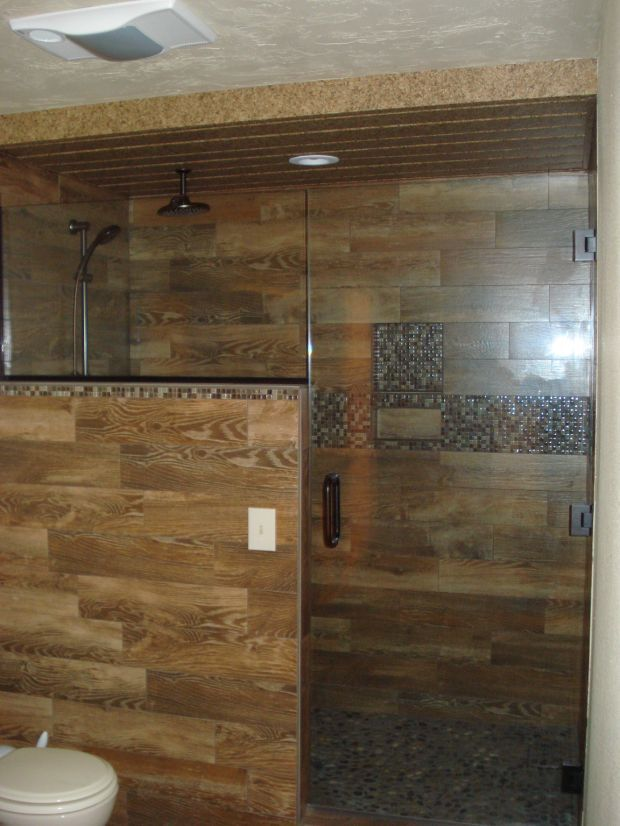 Wood Plank Tile Shower Google Search Building Ideas