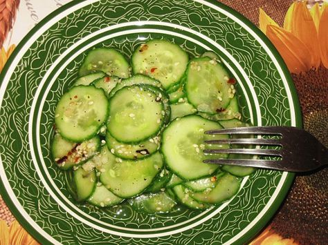 Корейский салат из свежих огурцов