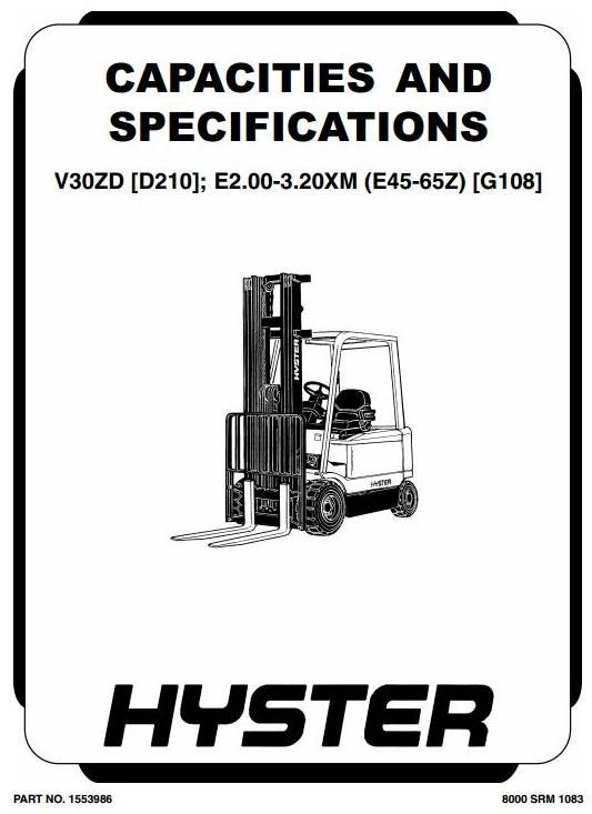 hyster truck e2 00xm e2 50xm e3 00xm e3 20xm e45z e50z e55z e60z rh pinterest com