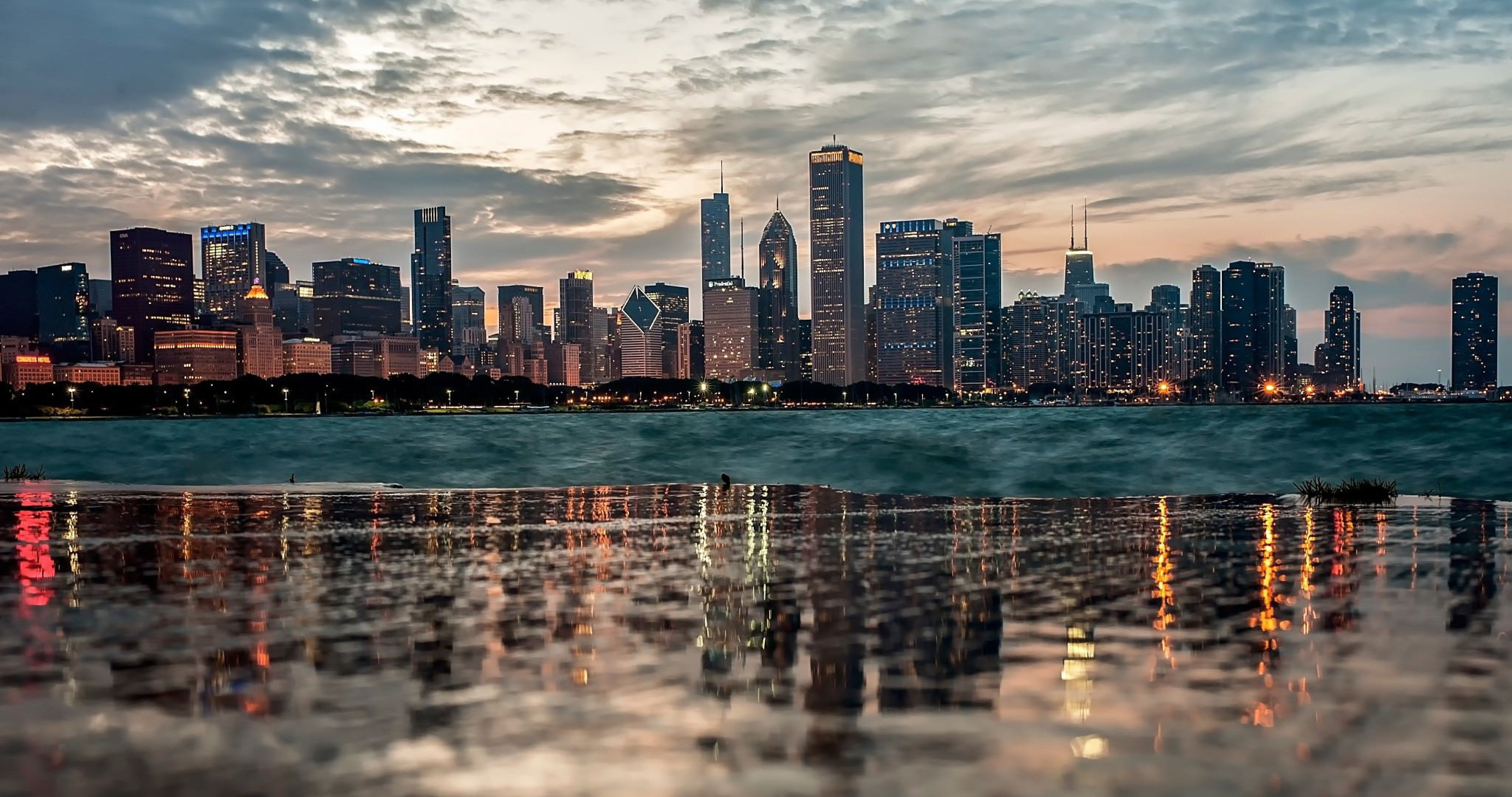 chicago reflection 4k ultra hd wallpaper Chicago