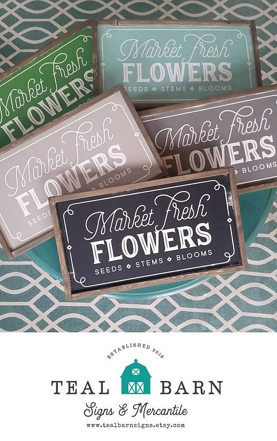 Market Fresh Flowers Sign Magnolia Market Fixer Upper Joanna