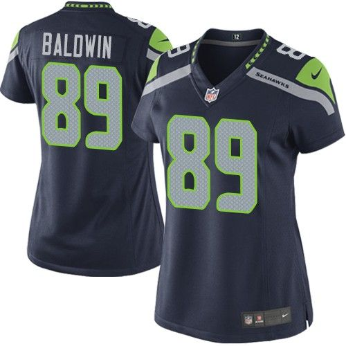 e64e92b649a Nike Limited Doug Baldwin Navy Blue Women's Jersey - Seattle Seahawks #89  NFL Home