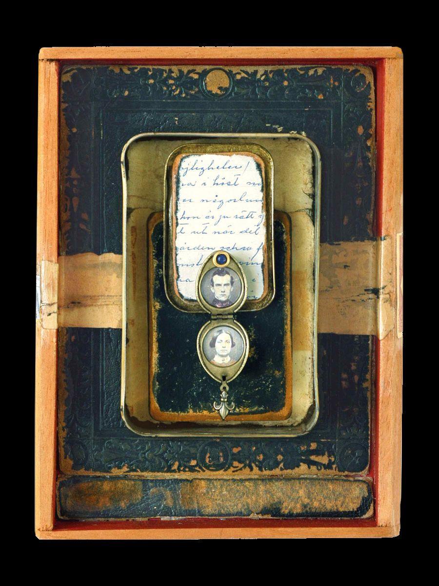 b71c6447965f The Locket | Artist Kass Copeland | Mixed Media Assemblage - Jewelry box,  cigar box, Altoid tin, locket, tin, book cover