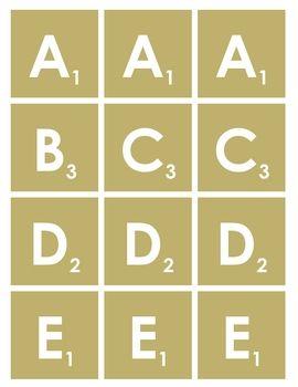 Scrabble Letters Printable Scrabble Letters Printable Scrabble