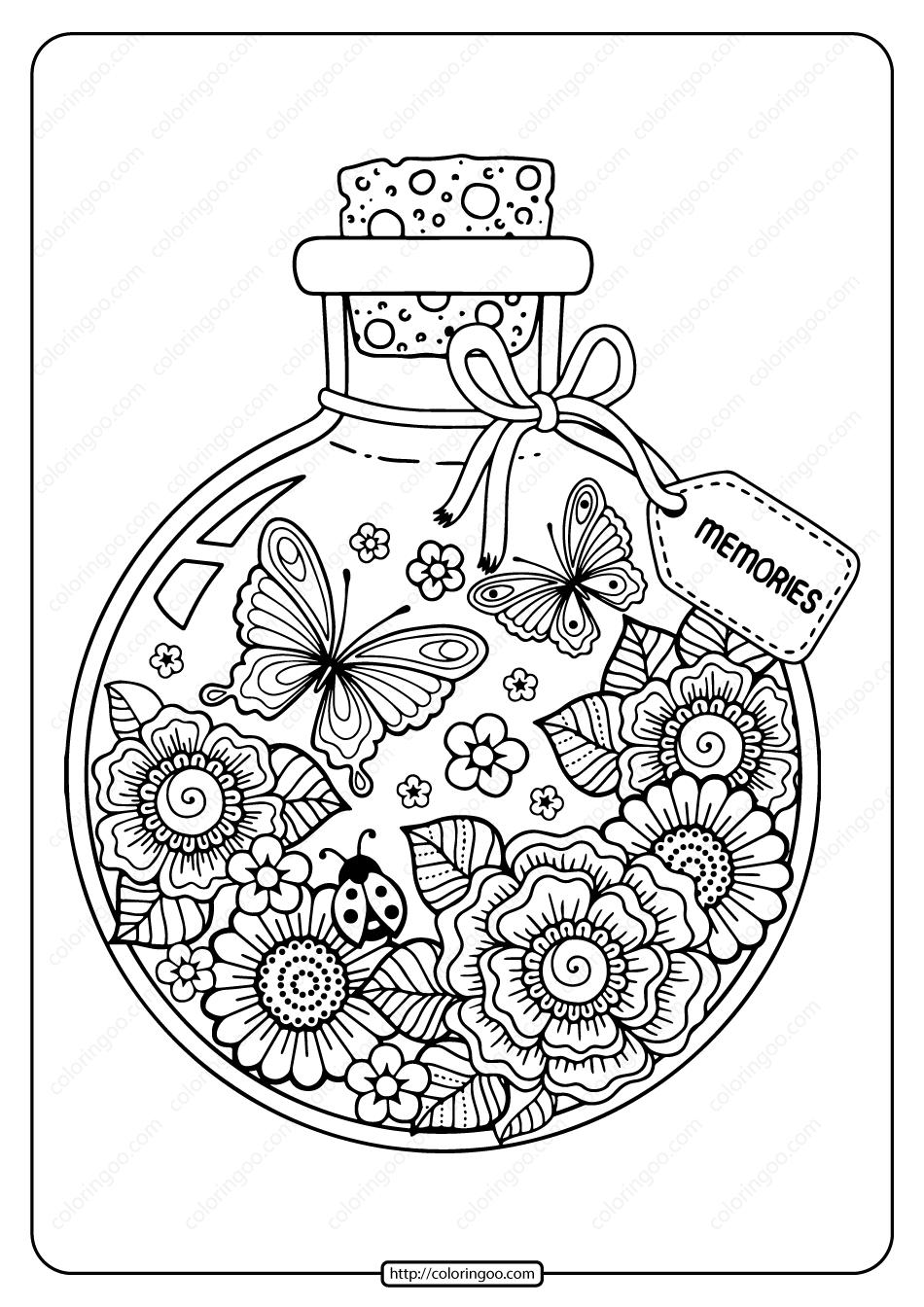 Printable Summer Memories Pdf Coloring Page Bee Coloring Pages Coloring Books Coloring Pages [ 1344 x 950 Pixel ]