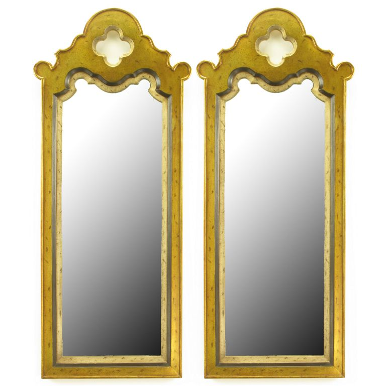 Pair Gilt Moroccan Style Wall Mirrors | Moroccan, Consoles and Walls