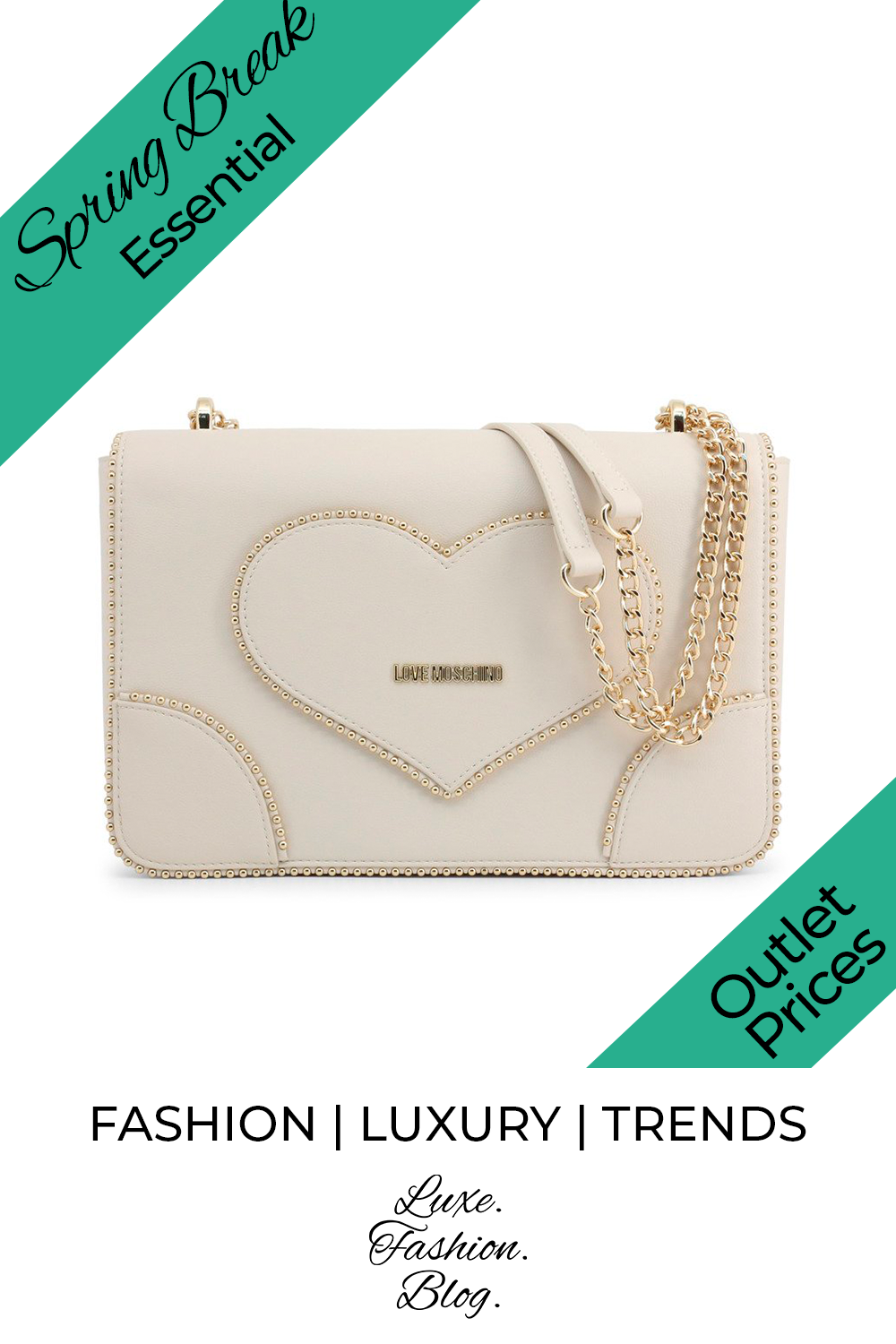 20+ Spring Break Accessories You Need | Spring Break | Moschino Bag | Cute Bag | White Bag For Her