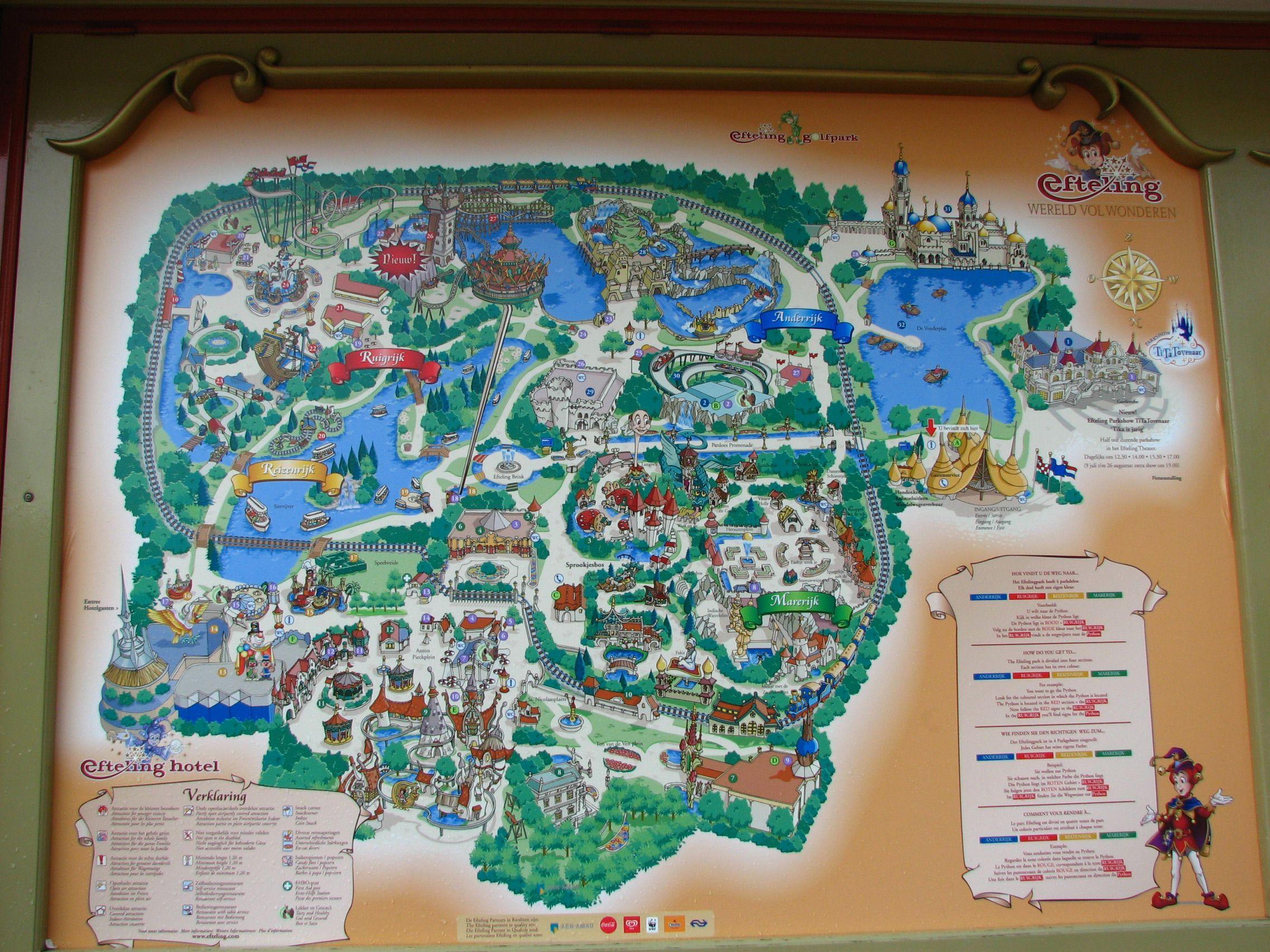 De Efteling Is Een Attractiepark In De Plaats Kaatsheuvel Noord
