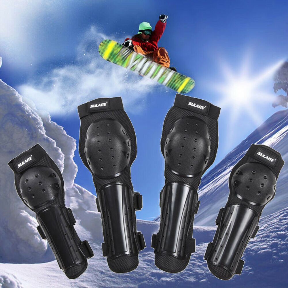 Horse Racing 4 Pcs For Skiing Outdoor Sports Elbow Pads Riding Racing Roller Skating Guards Protectors Protective Gears Knee