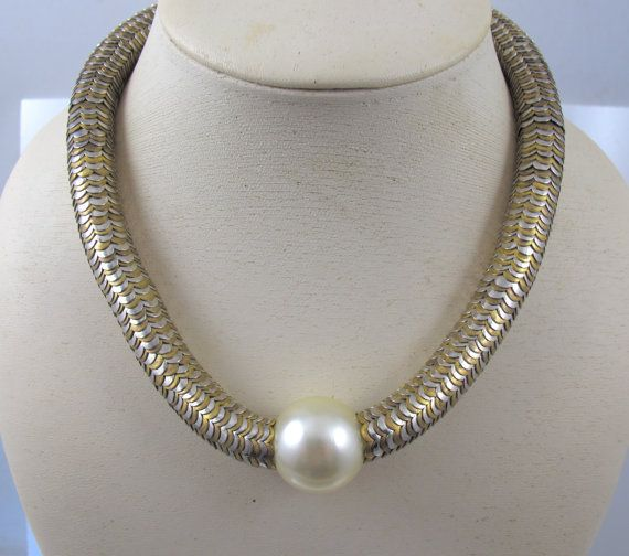 d0153b6bc39 YSL Yves Saint Laurent Necklace Snake Link by TonettesTreasures ...