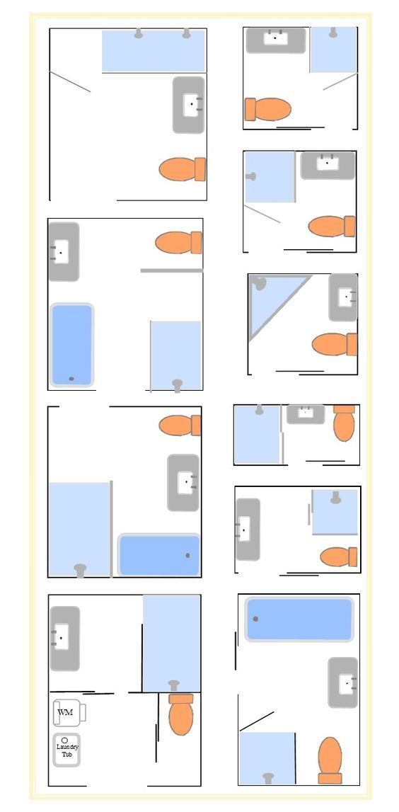 Tips On Bathroom Layouts To Configure The E Planning Requirements Of Your Kit House Floorplans