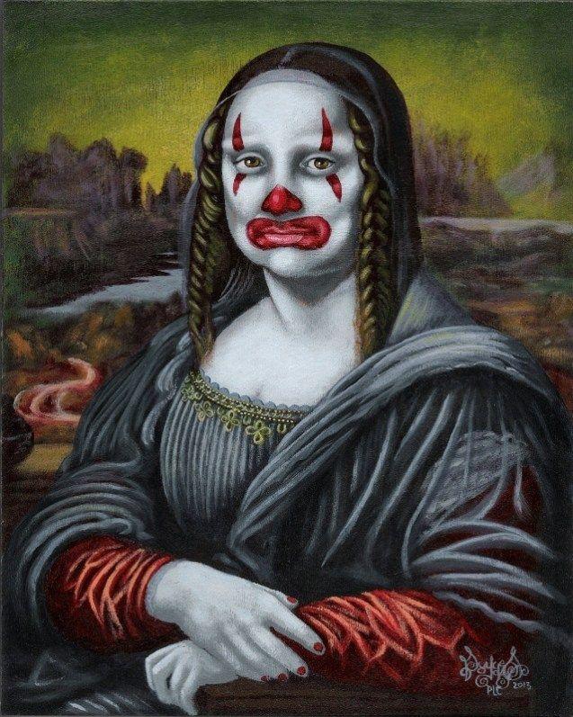 Scary clown Mona - Ginn Mona Pagliaccio [Pascal Leo Cornier] (Gioconda / Mona Lisa)